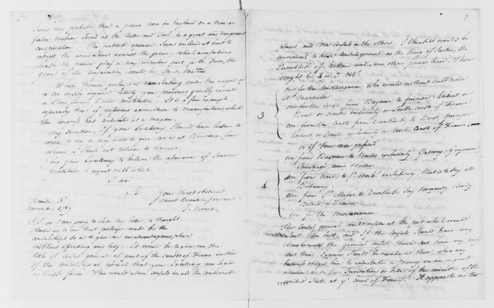 George Washington Papers, Series 7, Applications for Office, 1789-1796: J. Vernes