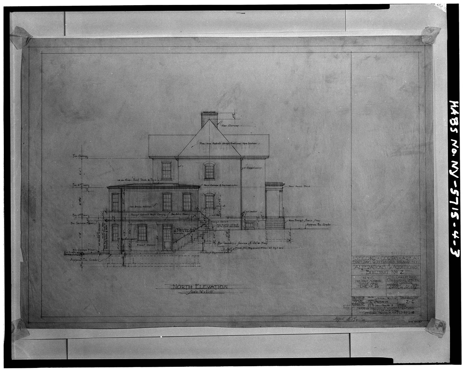 Governors Island, Building No. 2, New York Harbor, Nolan Park near Barry & Andes Roads, New York, New York County, NY