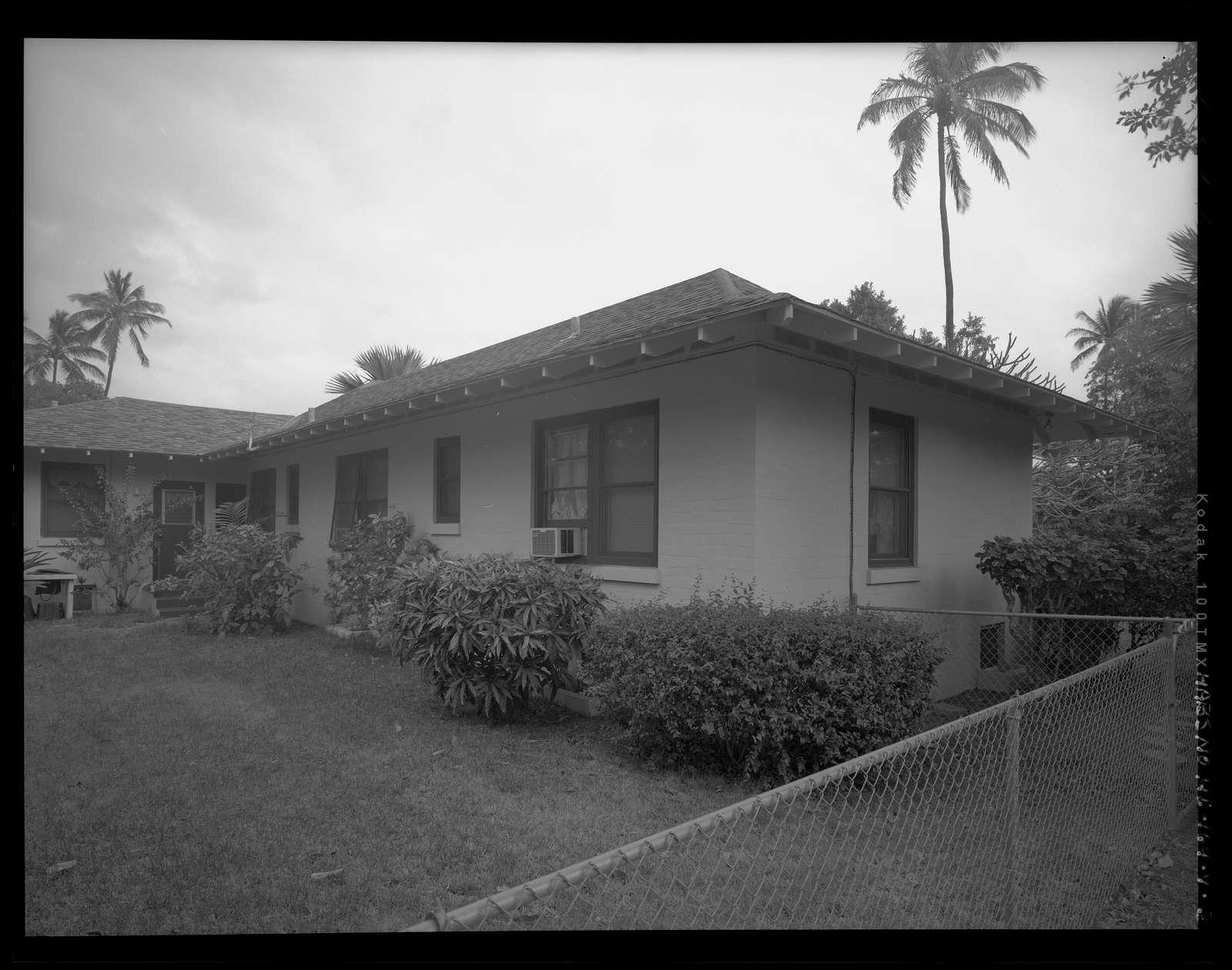 Hickam Field, Officers' Housing Type G, 205 Seventh Street, Honolulu, Honolulu County, HI