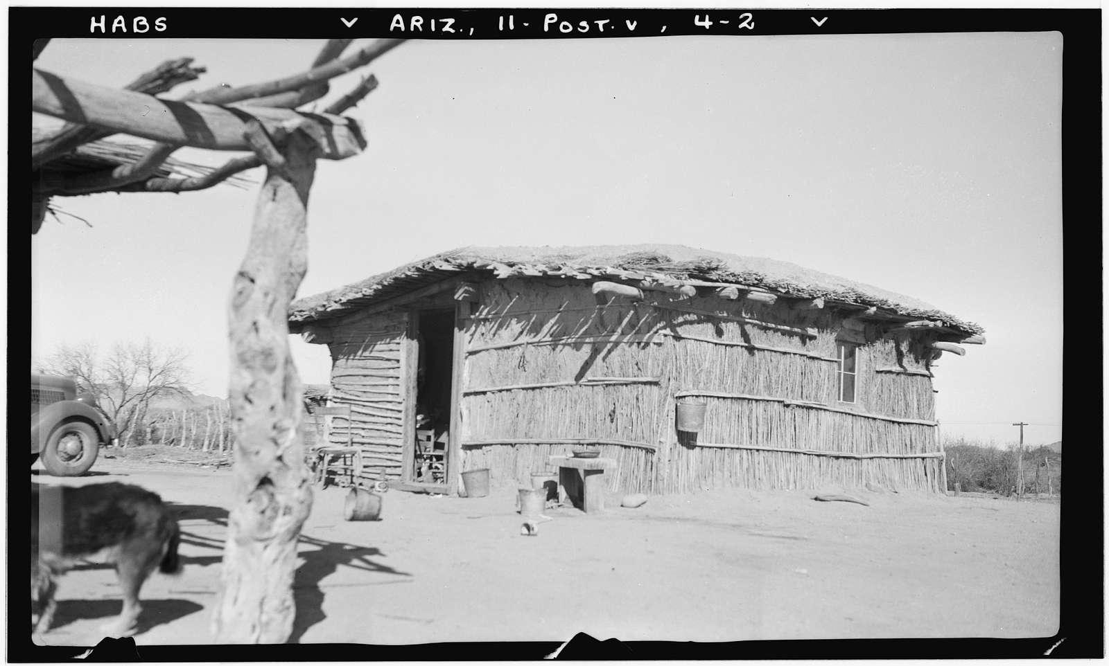 Indian Wattle-and-Daub Farmhouse, Gila River Vicinity, Poston, La Paz County, AZ