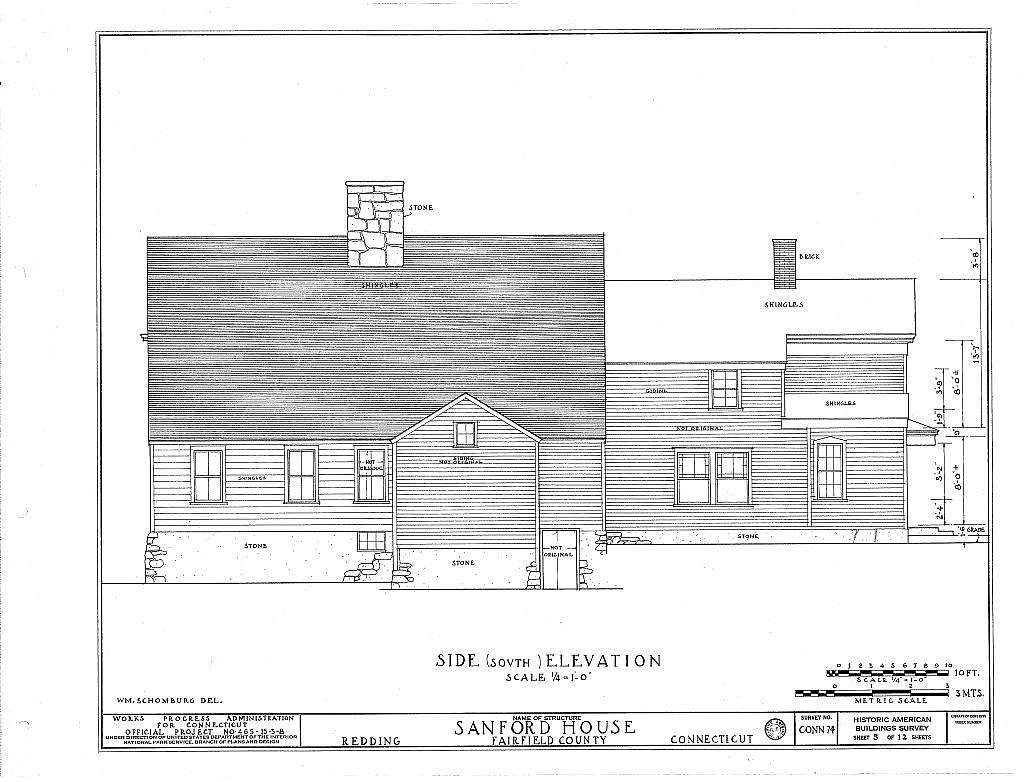 Jonathan B. Sanford House, Redding, Fairfield County, CT
