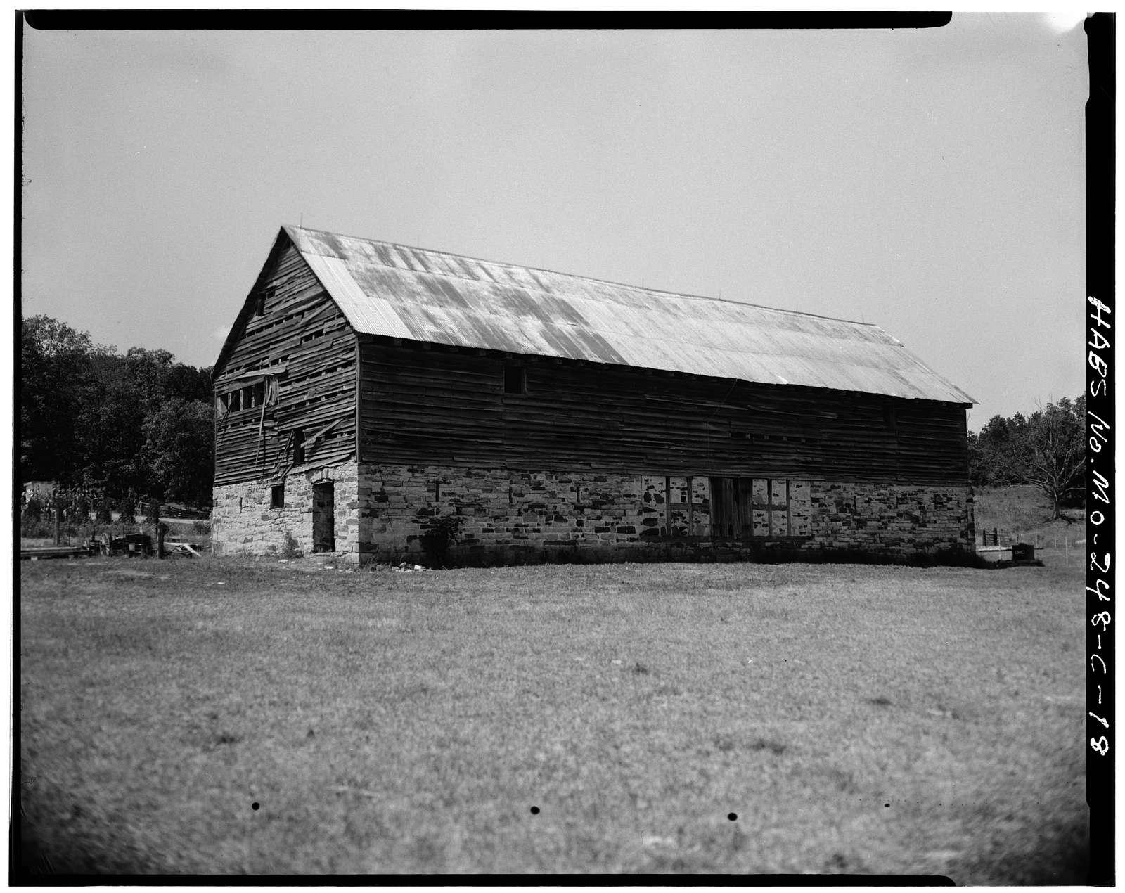 Kotthoff-Weeks Farm, Barn, County Route J vicinity, Gasconade, Gasconade County, MO