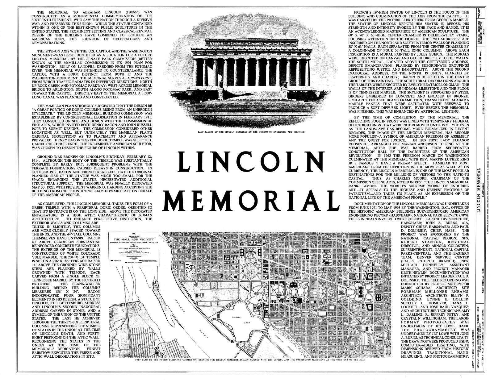 Lincoln Memorial, West Potomac Park, Washington, District of Columbia, DC