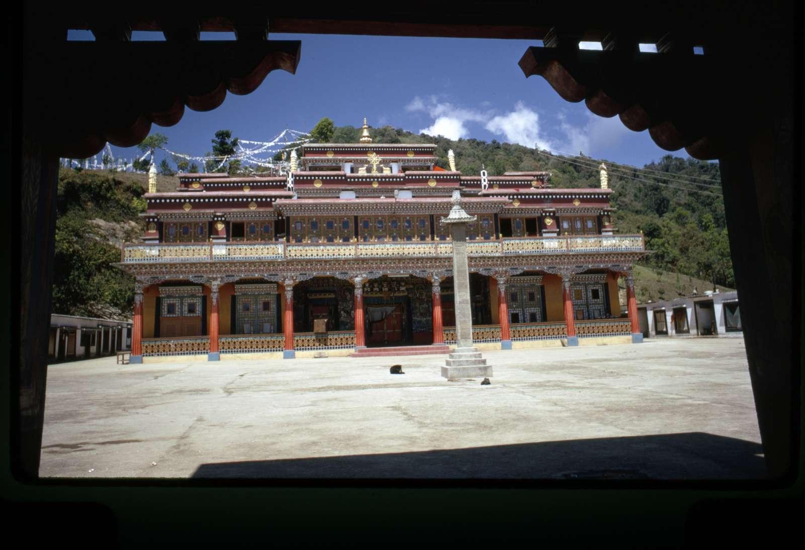 [Rumtek Monastery seen from across courtyard, Sikkim]