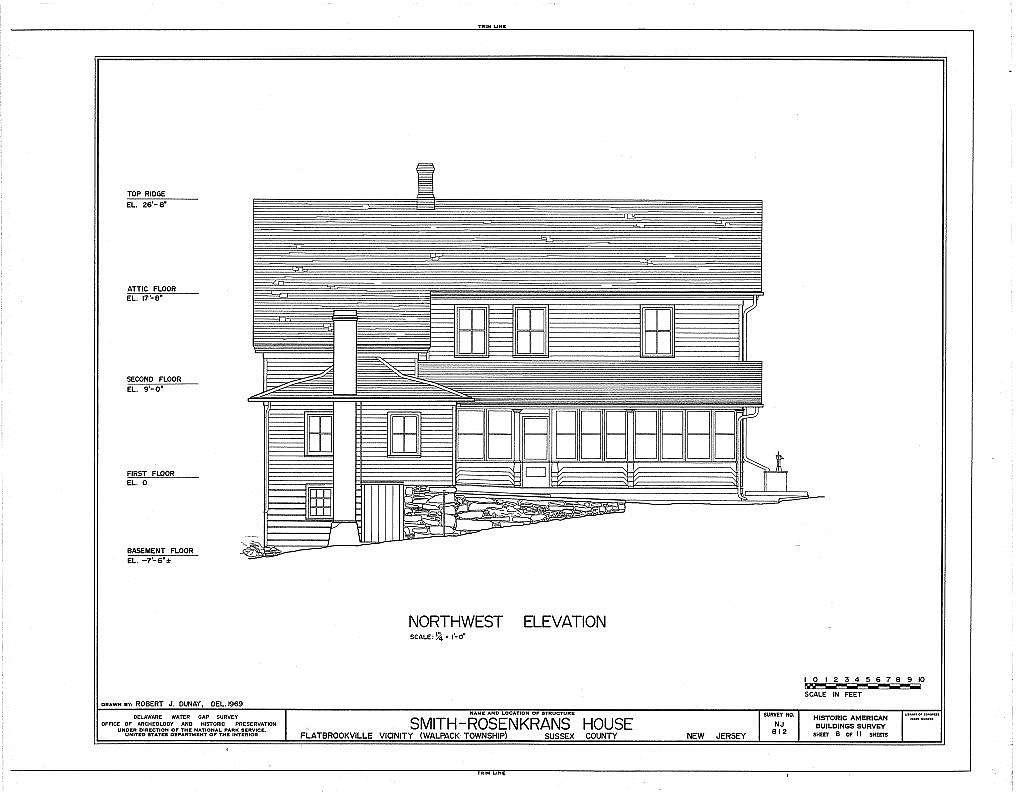 Smith-Rosenkrans House, Old Mine Road, Flatbrookville, Sussex County, NJ