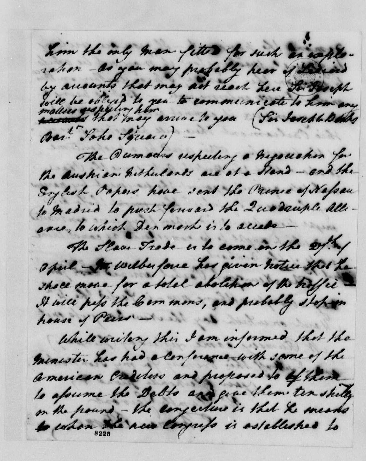 Thomas Paine to Thomas Jefferson, April 10, 1789