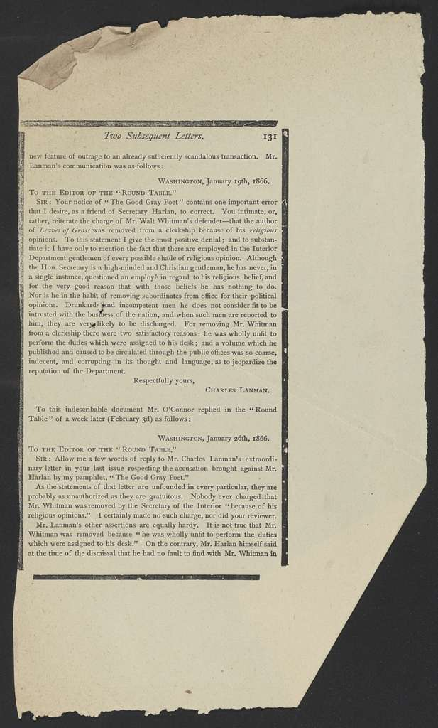 Walt Whitman Papers in the Charles E. Feinberg Collection: Oversize, 1844-1952; Supplementary File; Speeches and writings file; Books; Bucke, Richard Maurice, Walt Whitman; Proofs; Proof sheets (Container 84)