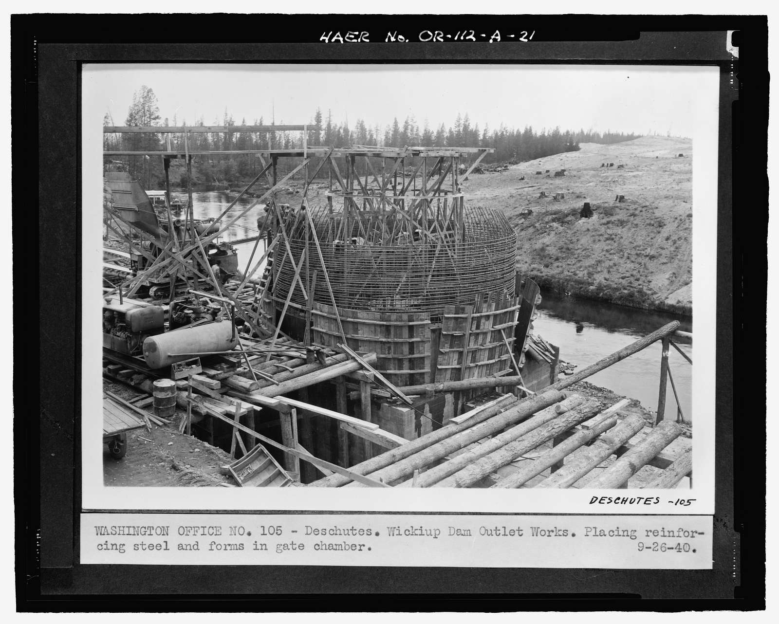 Wickiup Dam, Outlet Works, Deschutes River, La Pine, Deschutes County, OR
