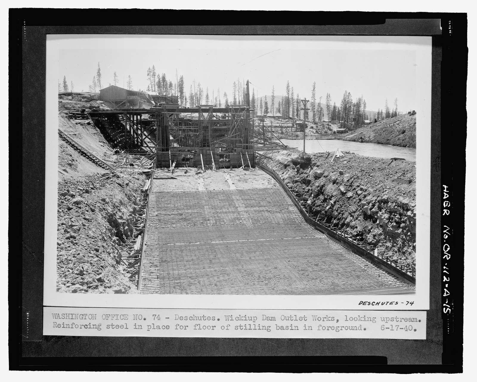 Wickiup Dam, Outlet Works, Deschutes River, La Pine, Deschutes County, OR