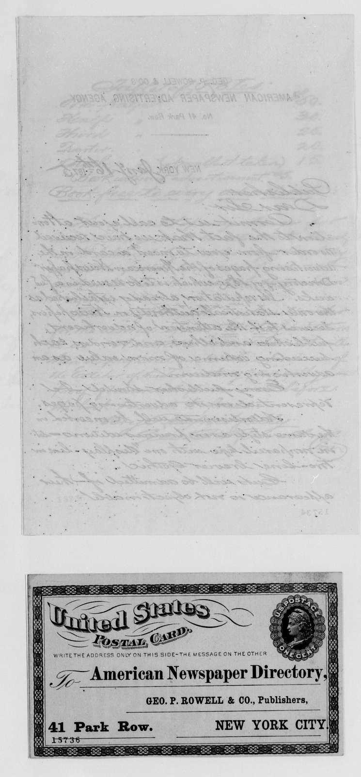 Alexander Hamilton Stephens Papers: General Correspondence, 1784-1886; 1874, Dec. 24-1875, Mar. 12