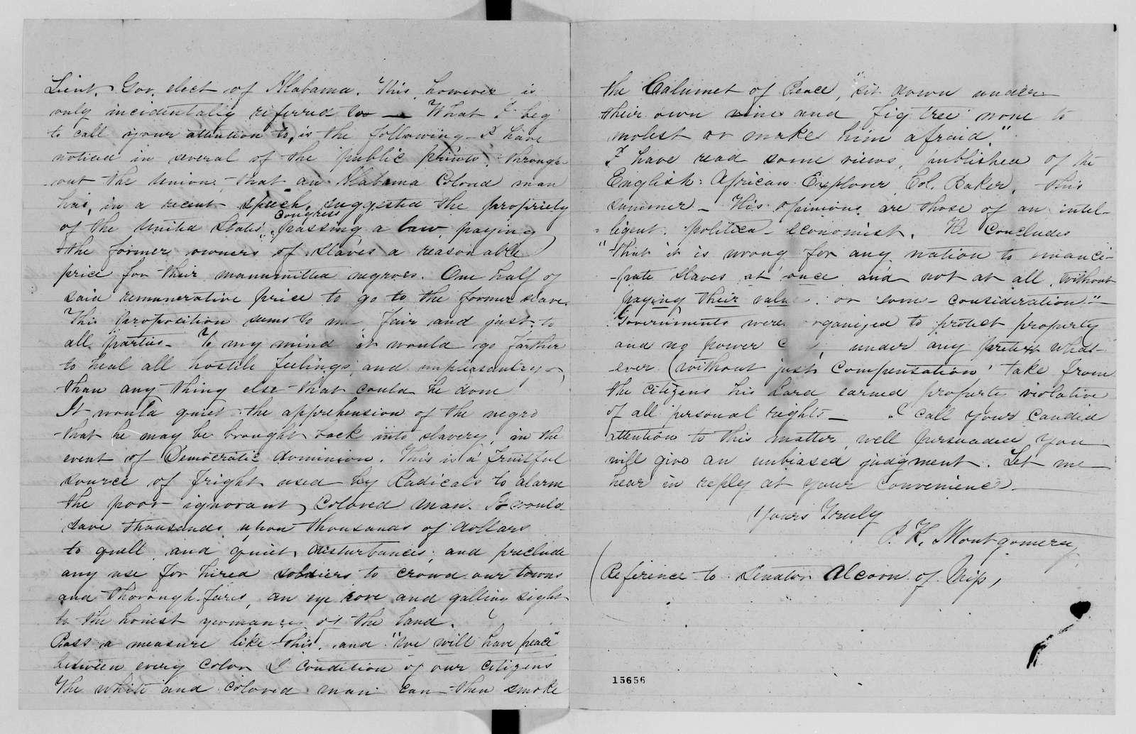 Alexander Hamilton Stephens Papers: General Correspondence, 1784-1886; 1874, Dec. 24-1875, Mar. 12