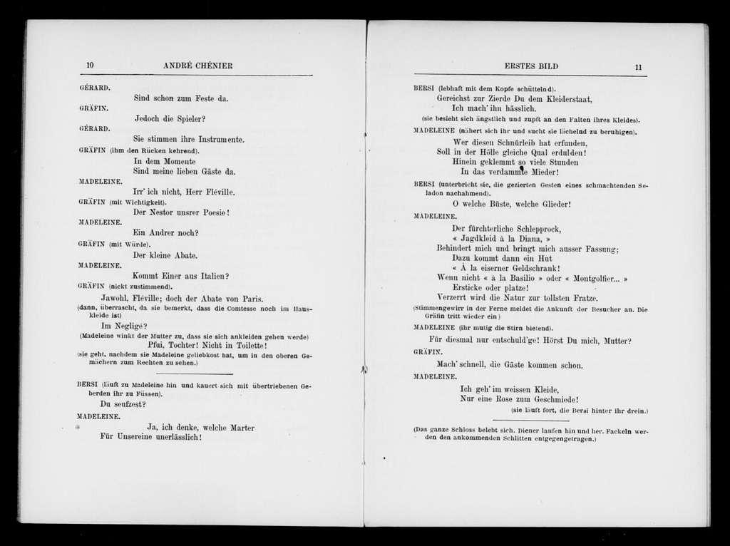 Andrea Chenier. Libretto. German