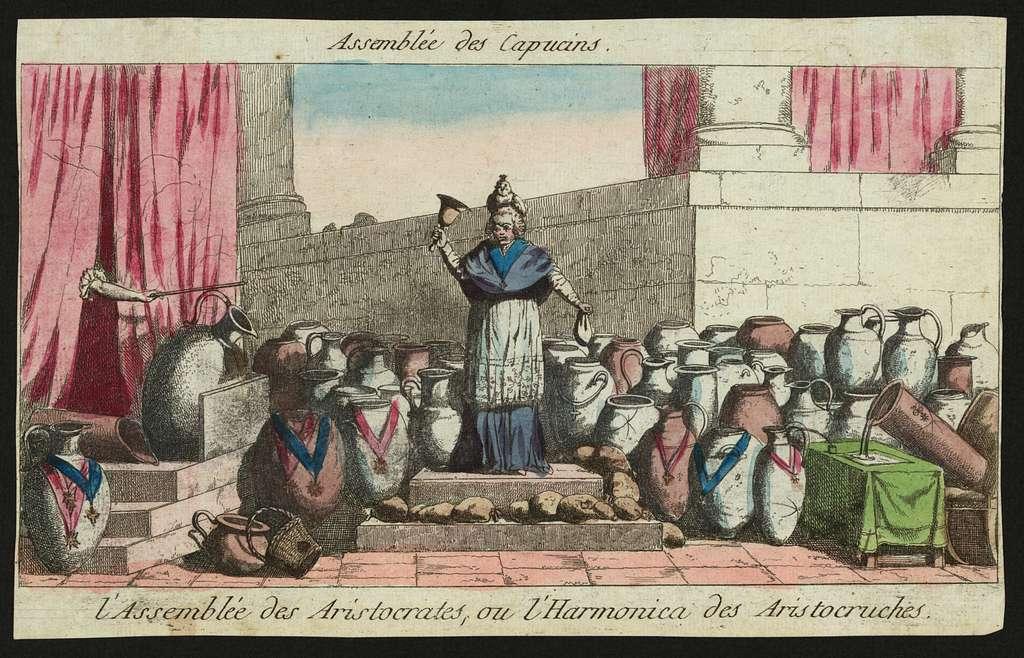 Assemblée des Capucins l'Assemblée des aristocrates, ou l'harmonica des aristocruches.