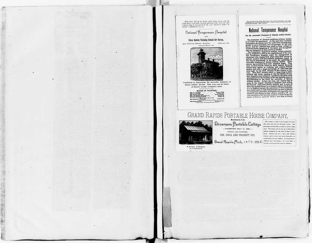 Clara Barton Papers: Scrapbooks, 1835-1930; 1886-1887