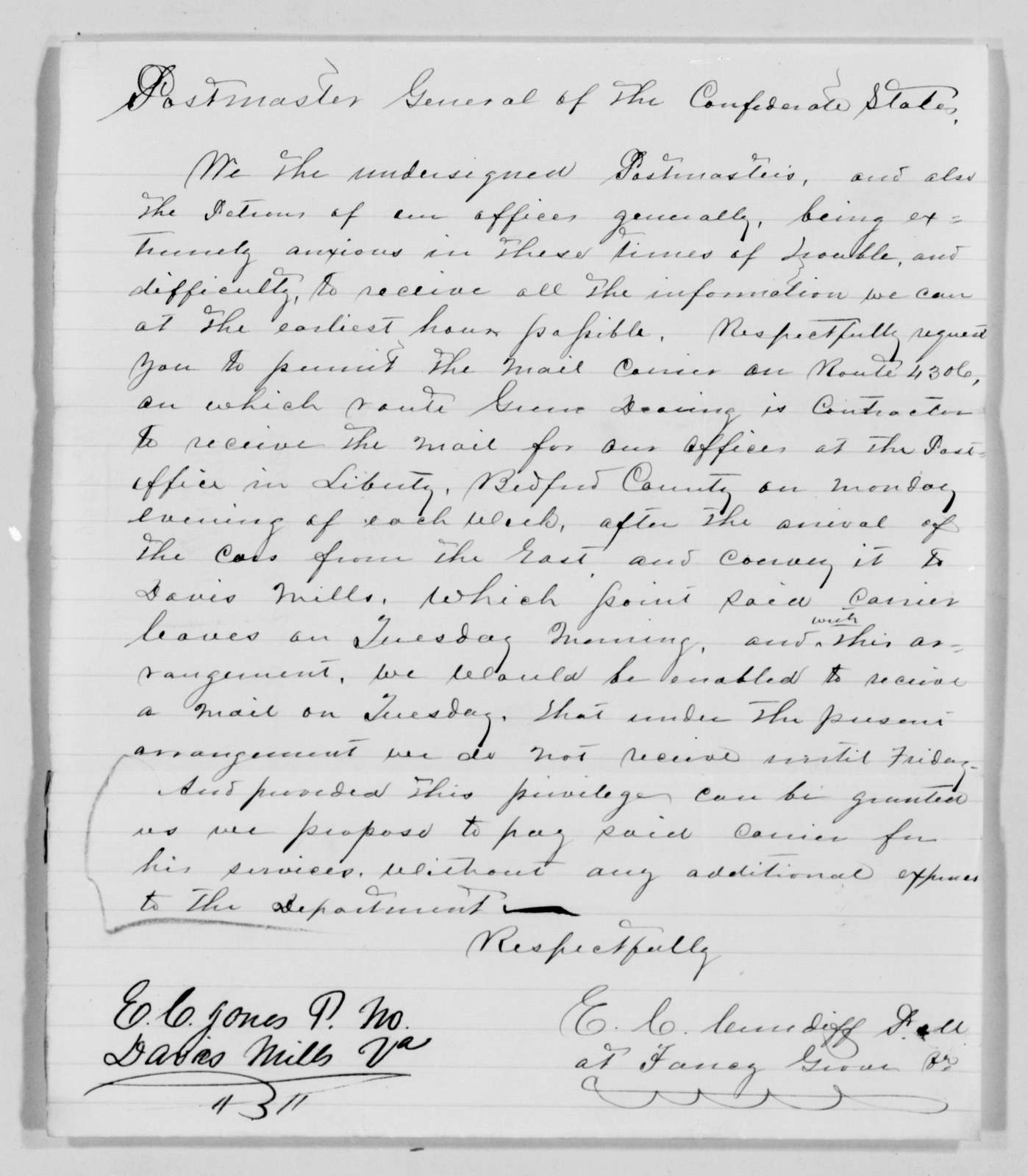 Confederate States of America records: Microfilm Reel 61