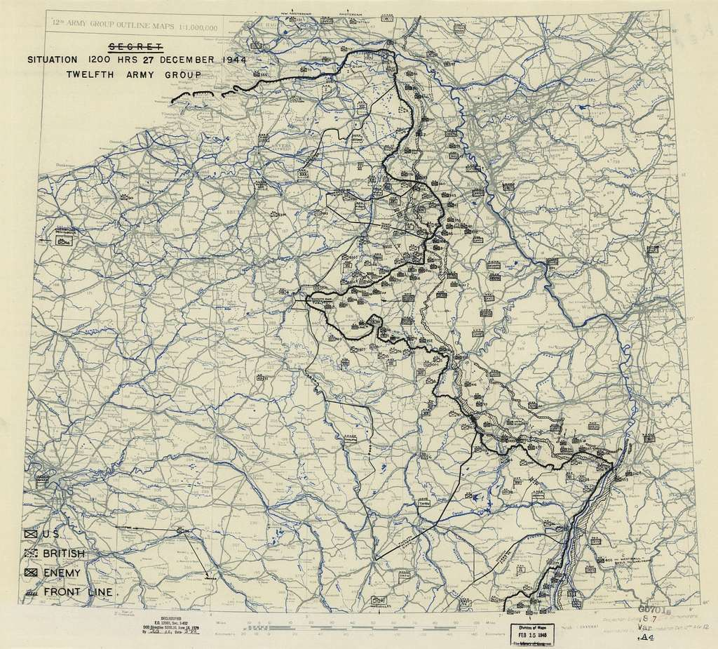 [December 27, 1944], HQ Twelfth Army Group situation map.