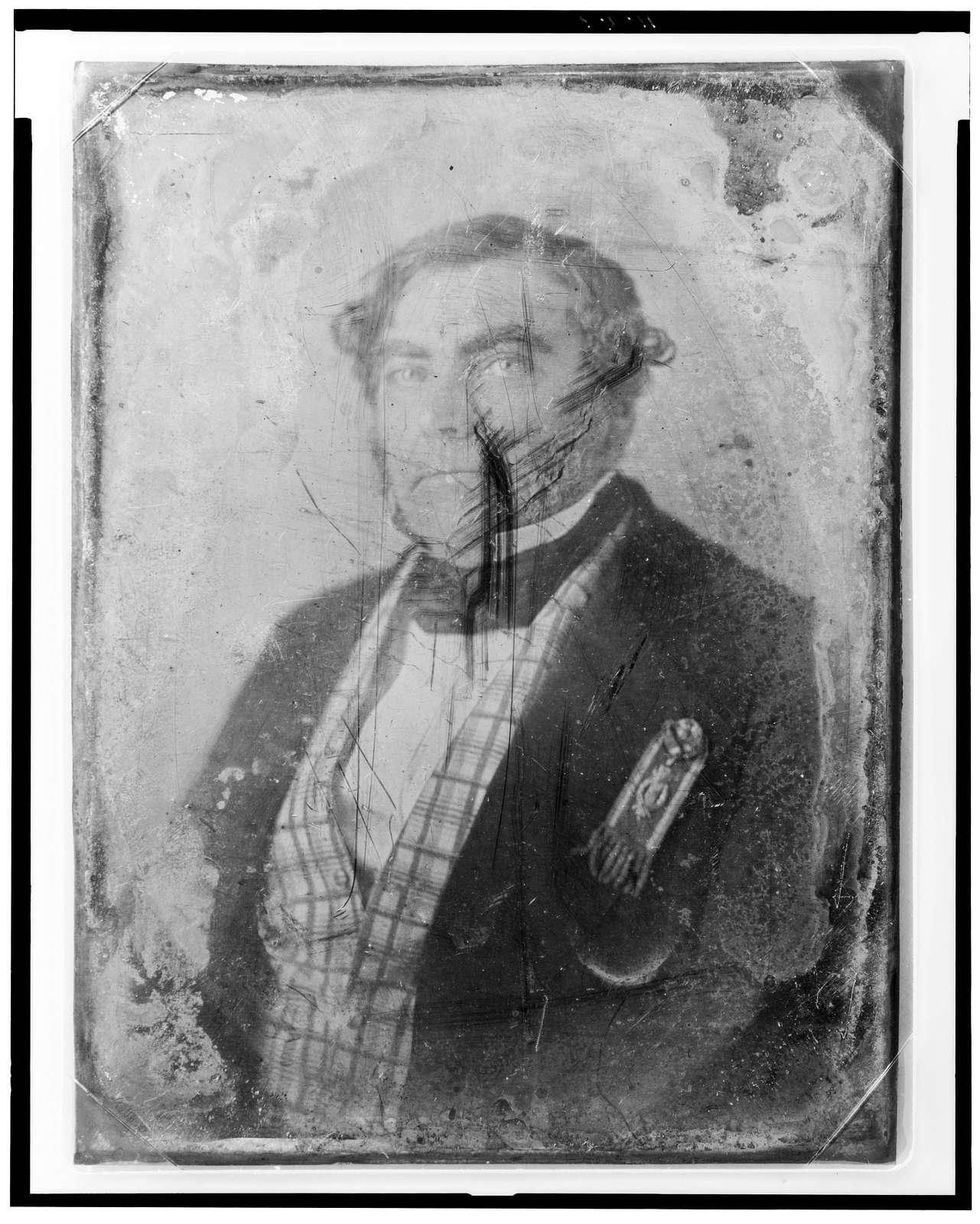 [Eugene Sue, half-length portrait, facing slightly left, wearing ribbon]