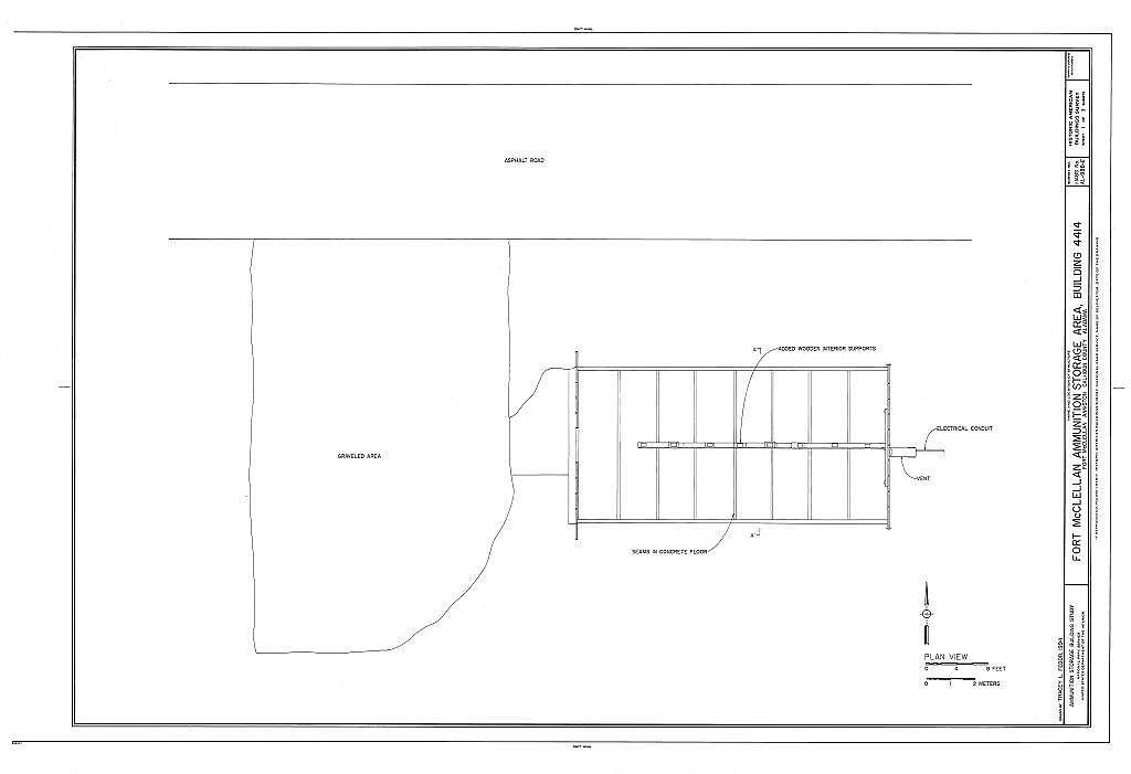 Fort McClellan Ammunition Storage Area, Building No. 4414, Second Avenue (Magazine Road), Anniston, Calhoun County, AL