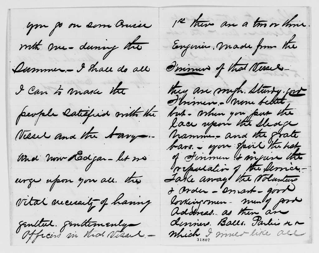 Gideon Welles Papers: Miscellany, 1777-1911; Welles, Edgar T., correspondence; 1861, Mar.-1868, June