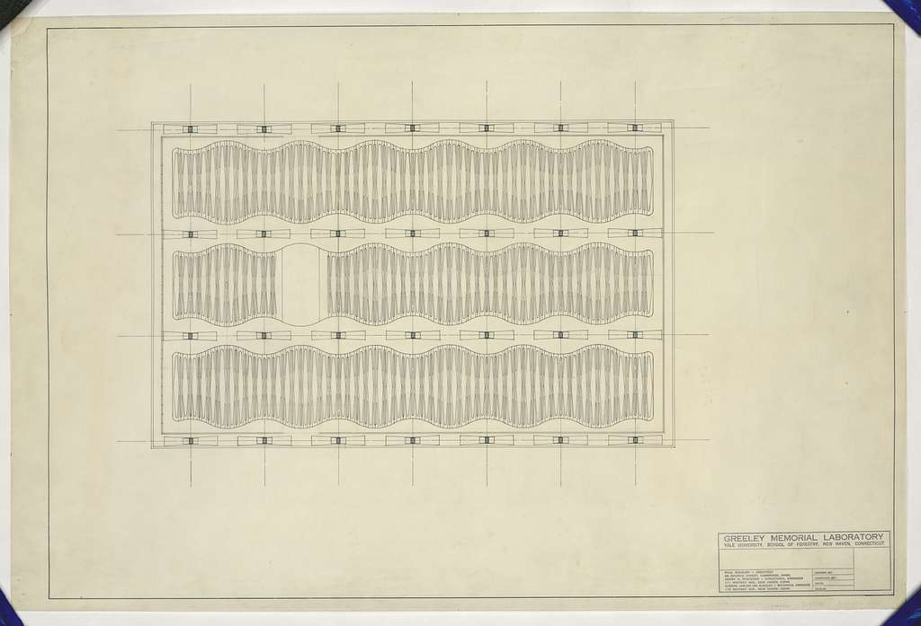 [Greeley Memorial Laboratory, Yale University, New Haven, Connecticut. Reflected ceiling plan]