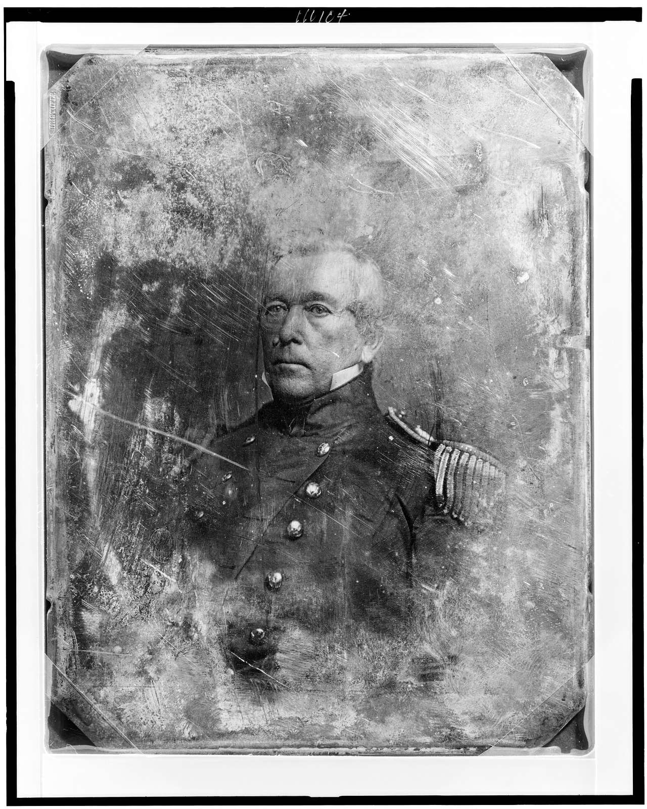 [John M. Washington, head-and-shoulders portrait, three-quarters to the left, in military uniform]