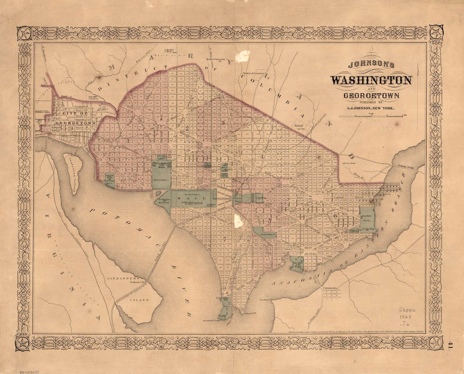 Johnson's Washington and Georgetown.