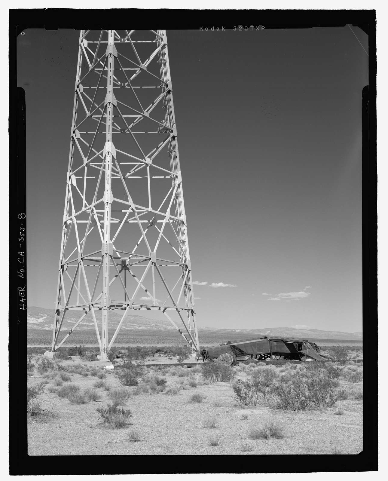 Naval Ordnance Test Station Inyokern, Randsburg Wash Facility Target Test Towers, Tower Road, China Lake, Kern County, CA