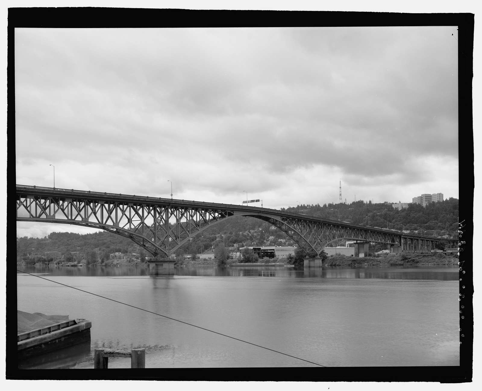 Ross Island Bridge, Spanning Willamette River at Powell Boulevard, Portland, Multnomah County, OR