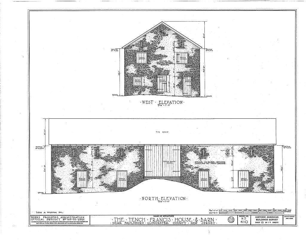 Tench Francis House & Barn, Manuta Creek, Paulsboro, Gloucester County, NJ