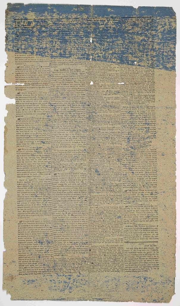 The daily citizen. J. M. Swords, proprietor. Vicksburg, Miss. Thursday, July 2, 1863.