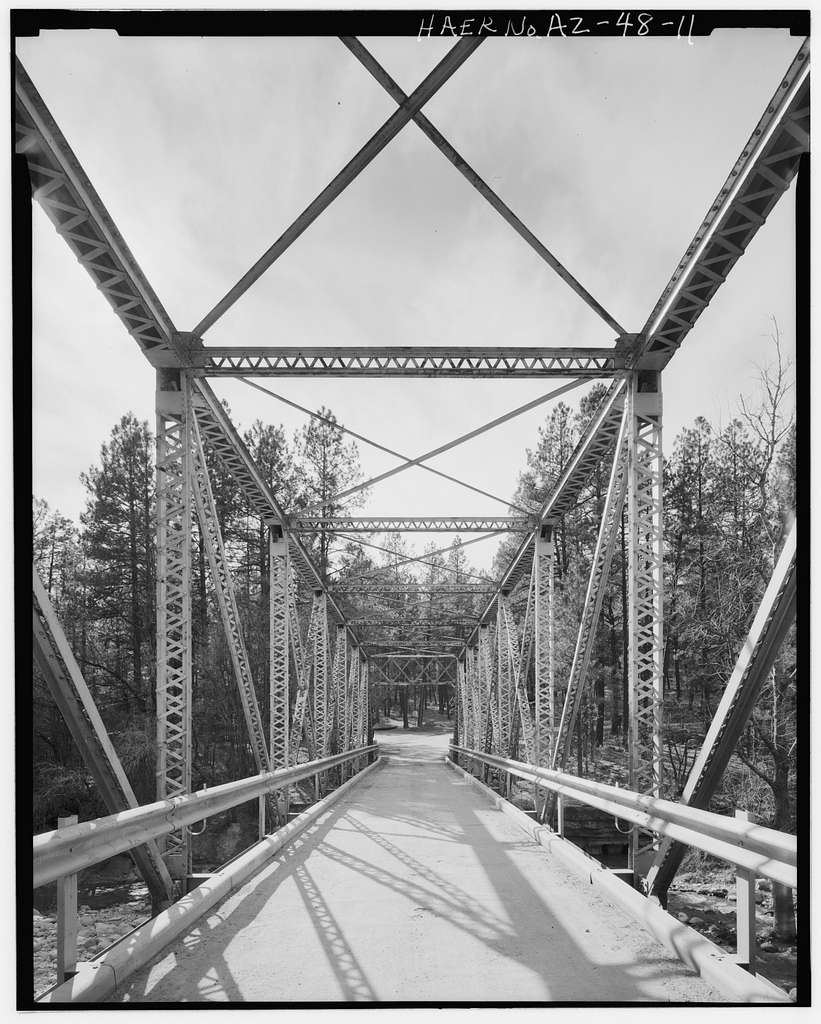 Whispering Pines Bridge, Spanning East Verde River at Forest Service Control Road, Payson, Gila County, AZ