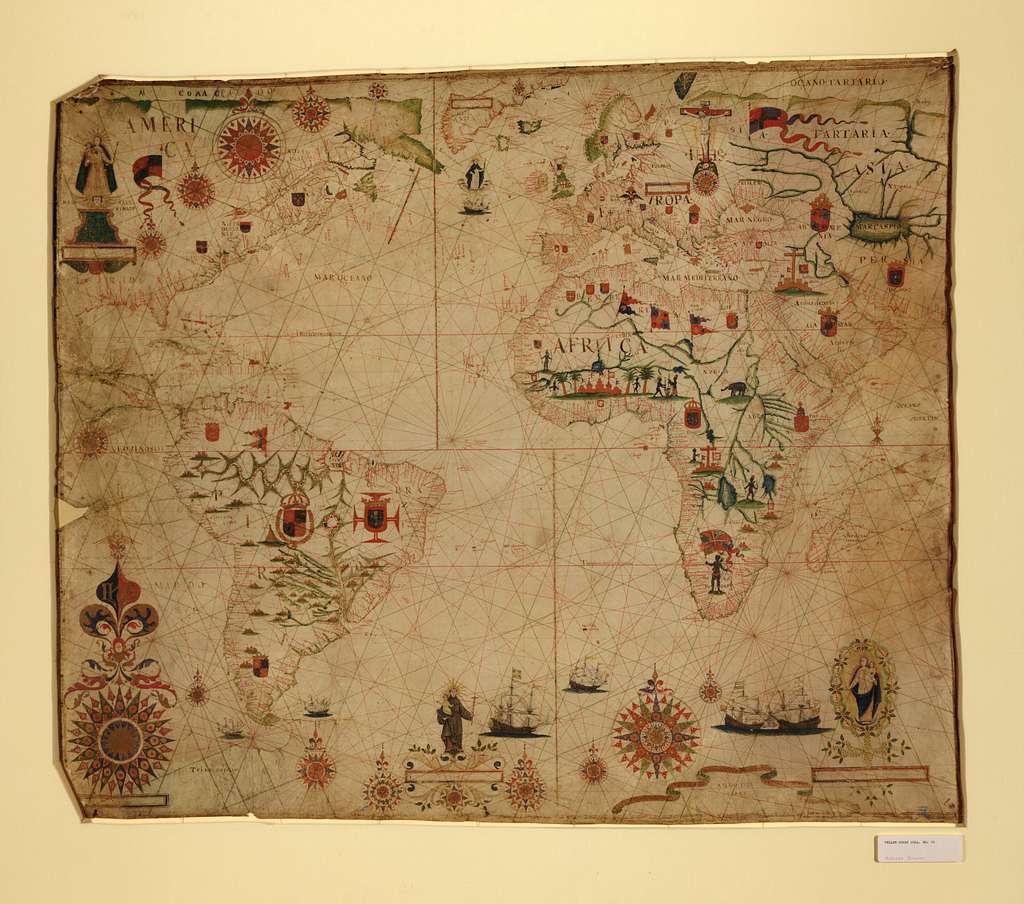 [A portolan chart of the Atlantic Ocean and adjacent continents].