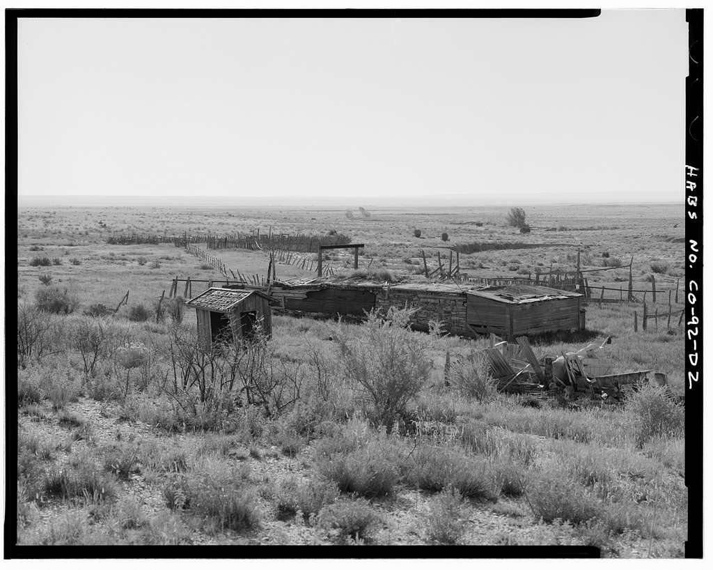 Asa T. Haines Homestead, Barn, Approximately 70 feet east of dugout cellar, Model, Las Animas County, CO