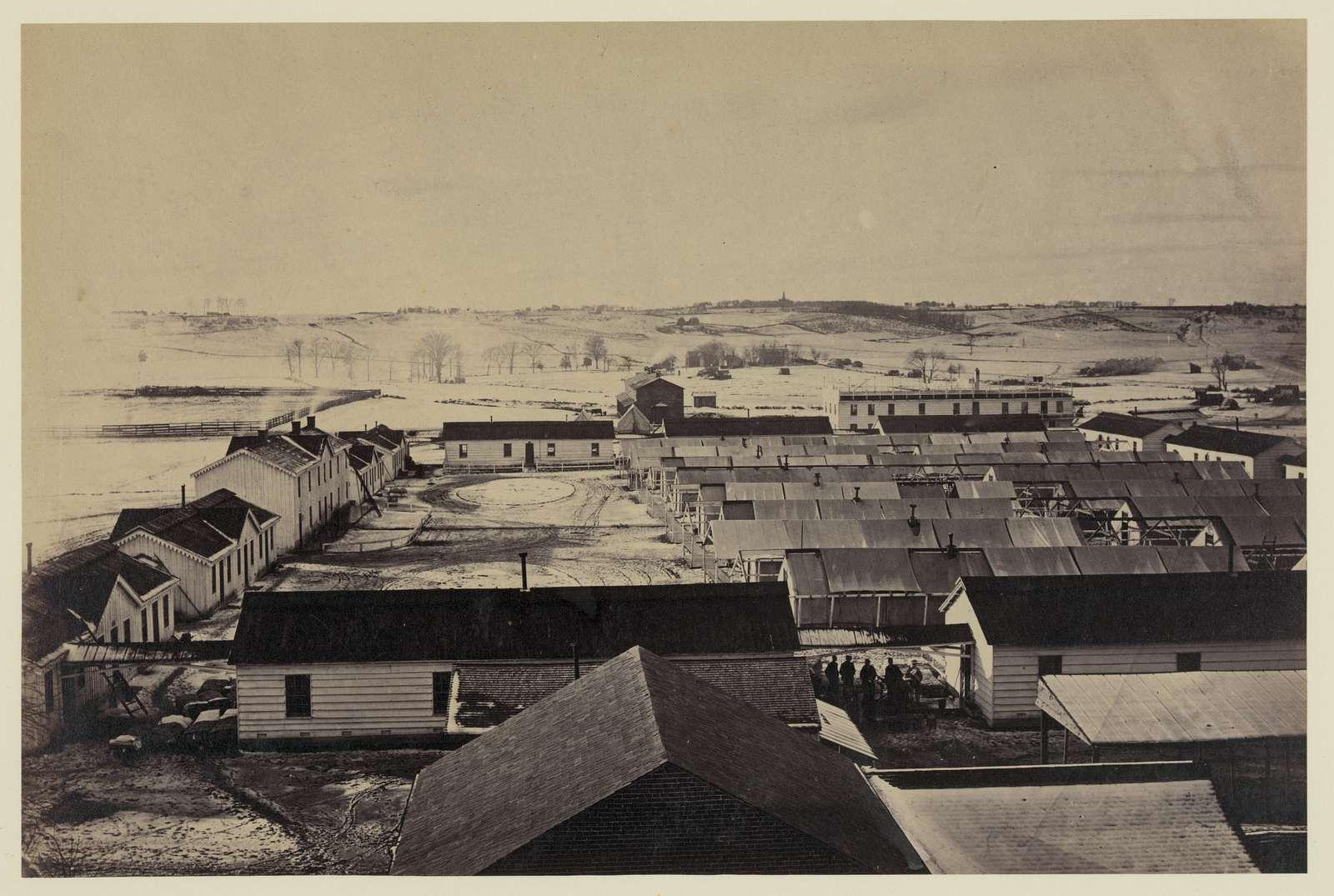 Bird's-eye view of Sickel Hospital, Alexandria, Va.