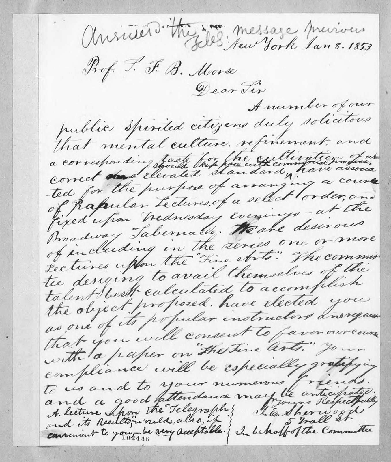 Bound volume---8 January 1853-26 March 1854