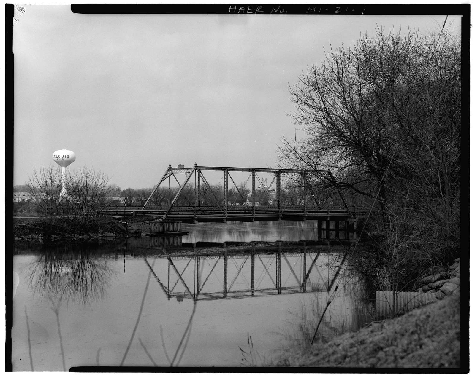 Cheesman Road Bridge, Spanning Pine Bridge, Saint Louis, Gratiot County, MI