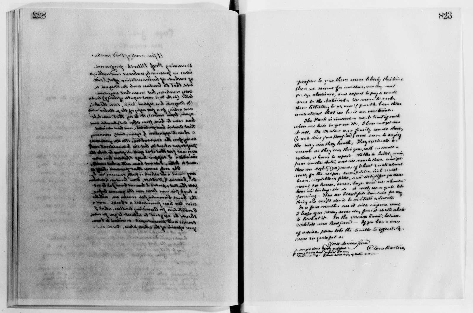 Clara Barton Papers: Letterbooks, 1876-1911; 1891, Dec.-1893, Aug.; pp. 475-999