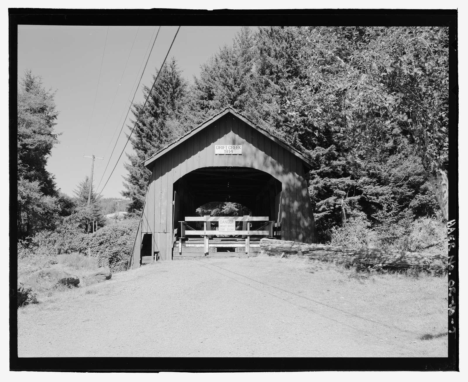 Drift Creek Bridge, Spanning Drift Creek on Drift Creek County Road, Lincoln City, Lincoln County, OR