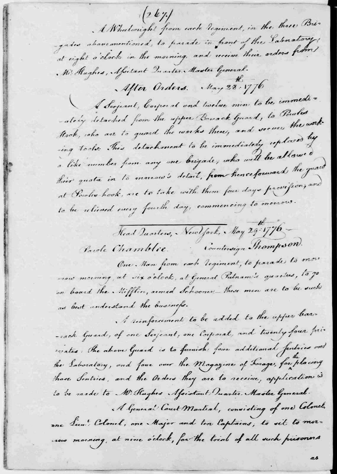George Washington Papers, Series 3, Varick Transcripts, 1775-1785, Subseries 3G, General Orders, 1775-1783, Letterbook 1: July 3, 1775 - Sept. 30, 1776