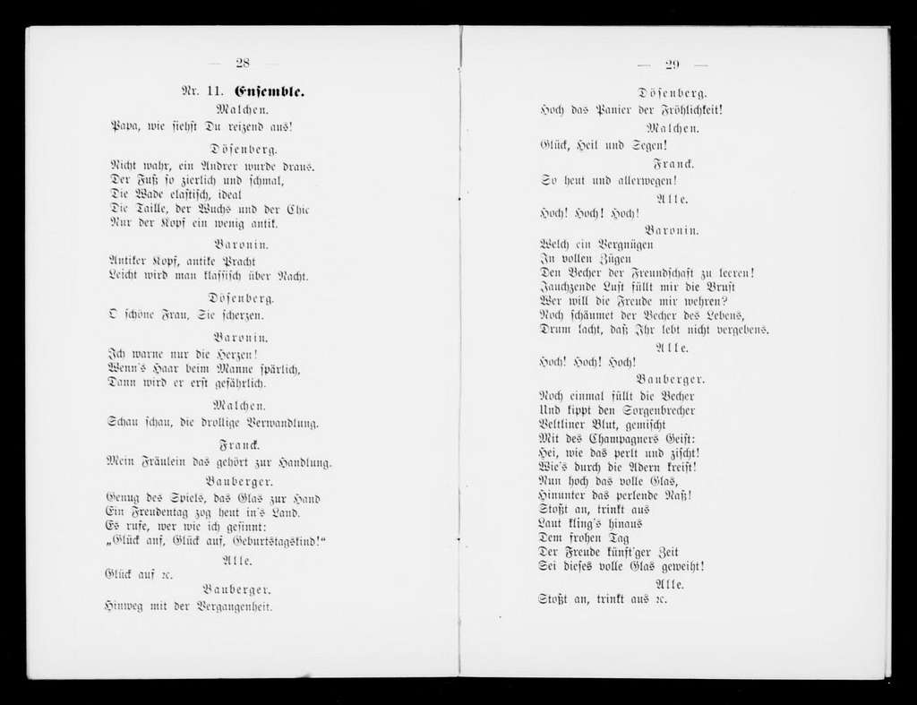 Hochstapler. Libretto. German