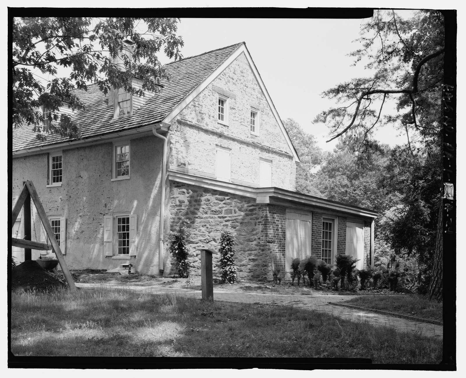 John Bartram House & Garden, House, 54th Street & Lindbergh Boulevard, Philadelphia, Philadelphia County, PA