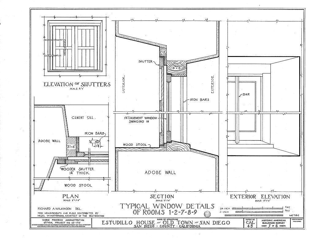Jose Antonio Estudillo House, Mason Street & San Diego Avenue, Old Town, San Diego, San Diego County, CA