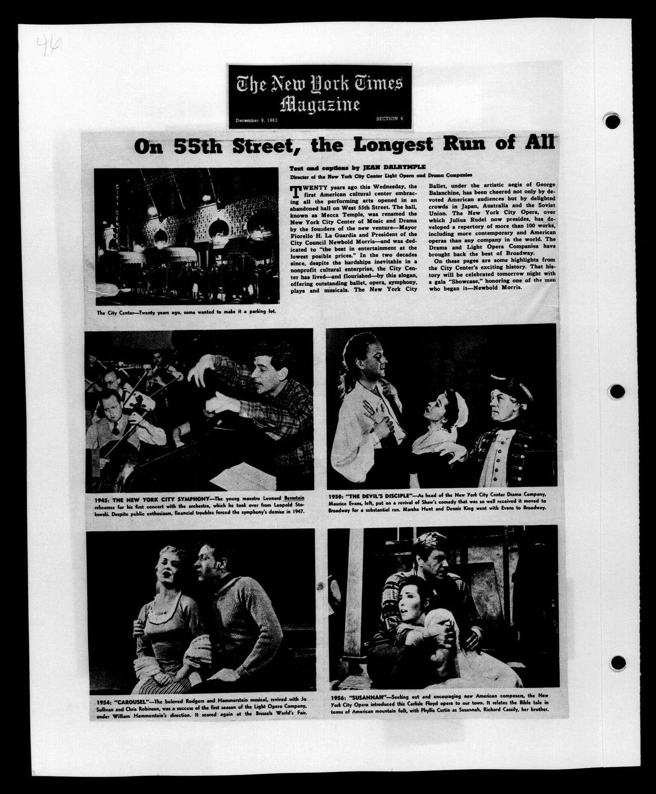 Leonard Bernstein Scrapbook: Vol. 50. Oct. 4, 1963-Jan. 31, 1964