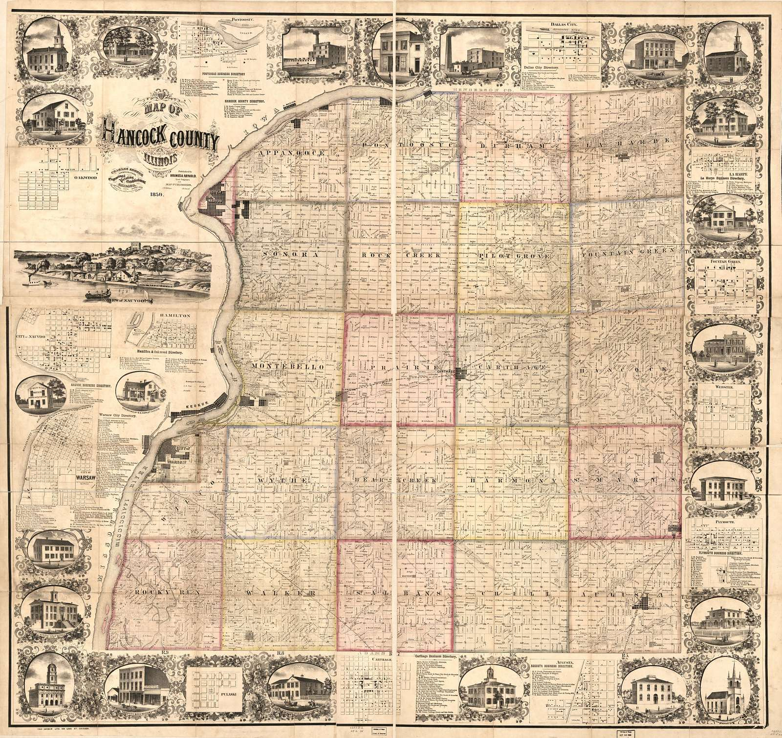 Map of Hancock County, Illinois /