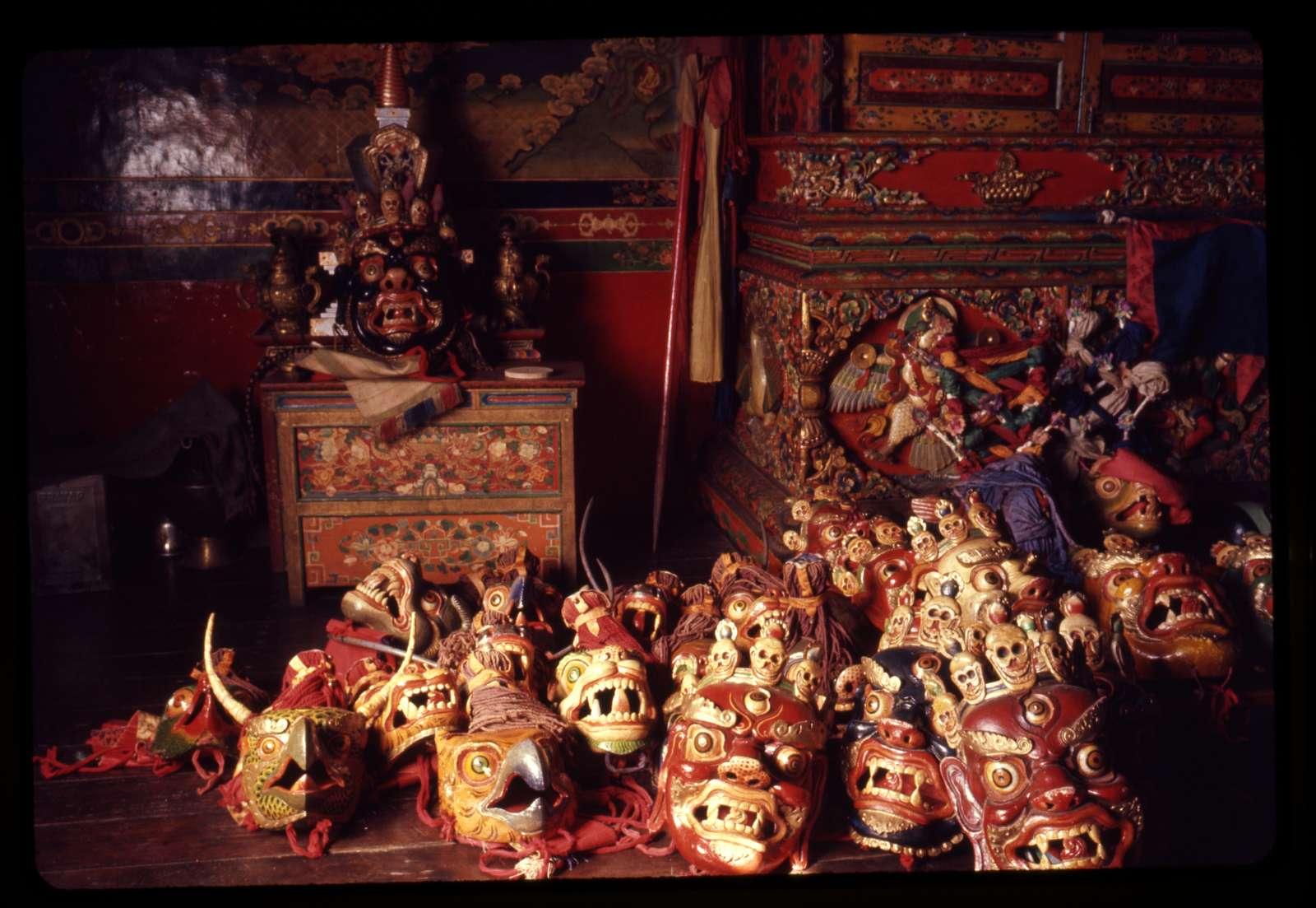 [Masks of different deities, Gangtok, Sikkim]