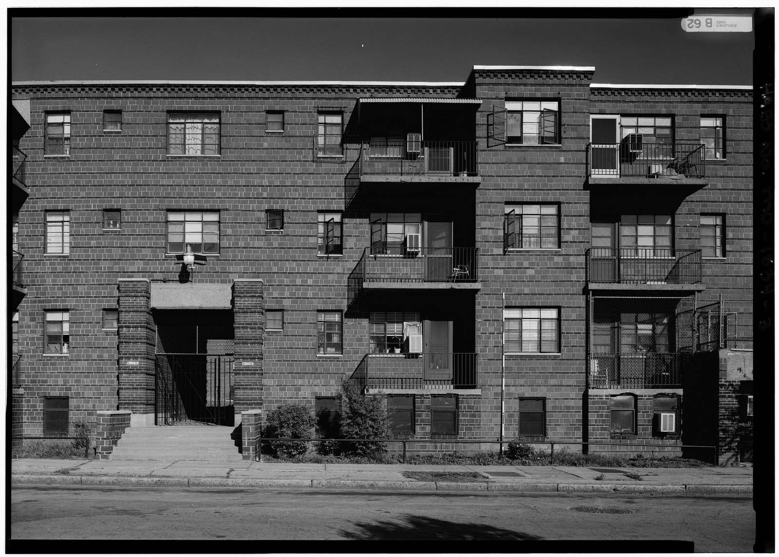 Neighborhood Gardens, Eighth Street between Biddle & O'Fallon Streets, Saint Louis, Independent City, MO