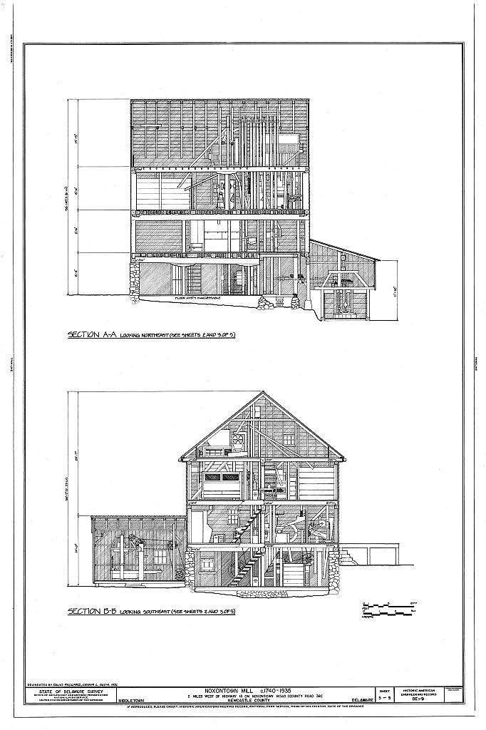 Noxontown Mill, Noxontown Road (County Road 38), Middletown, New Castle County, DE