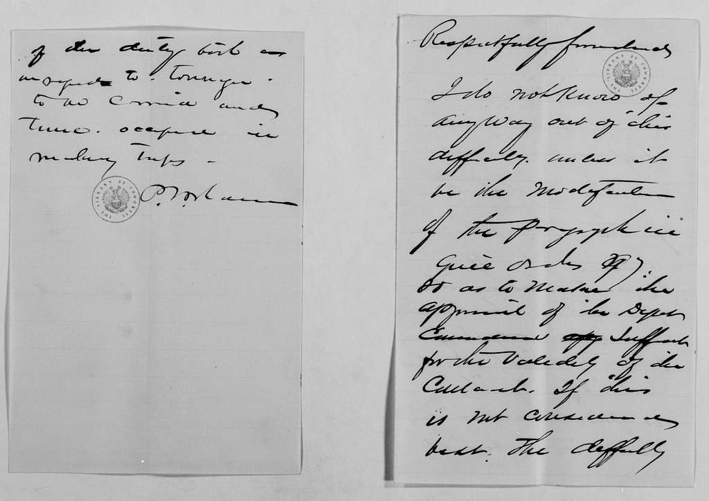 Philip Henry Sheridan Papers: General Correspondence, 1853-1888; 1877; Undated; 6 of 6