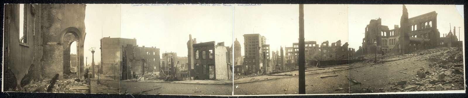 Ruins of San Francisco from Bush St., near Stockton