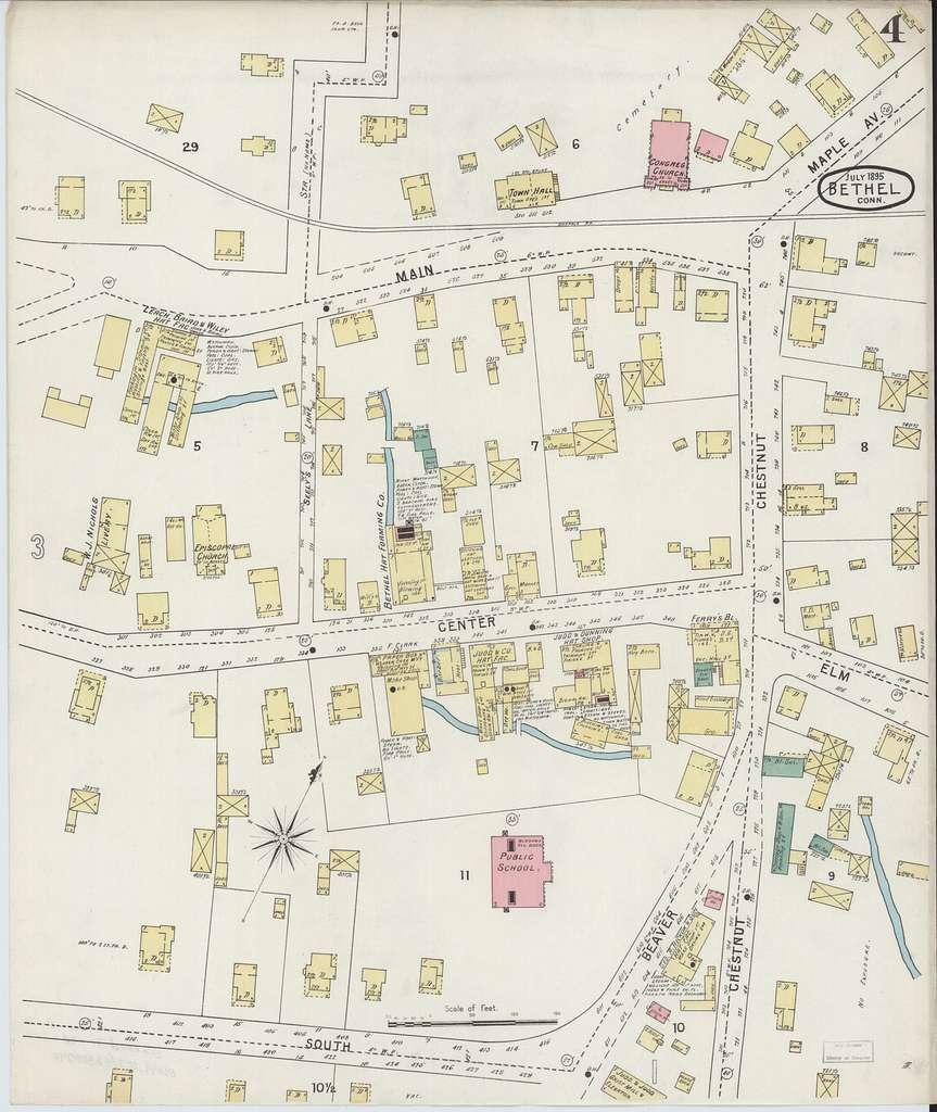 Sanborn Fire Insurance Map from Bethel, Fairfield County ...